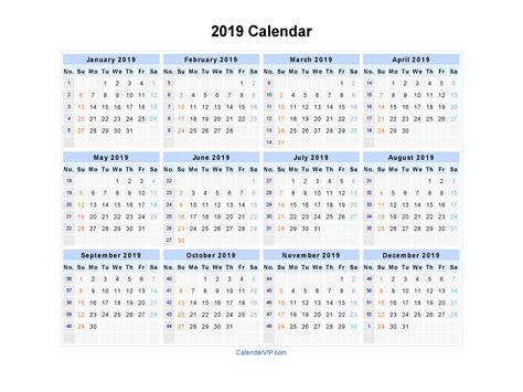 Blank Printable Calendar Template In Pdf