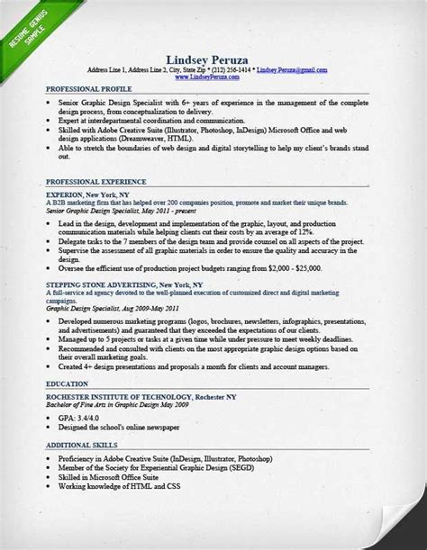 graphic design resume sle resumegenius cover letters resumes interviews graphic