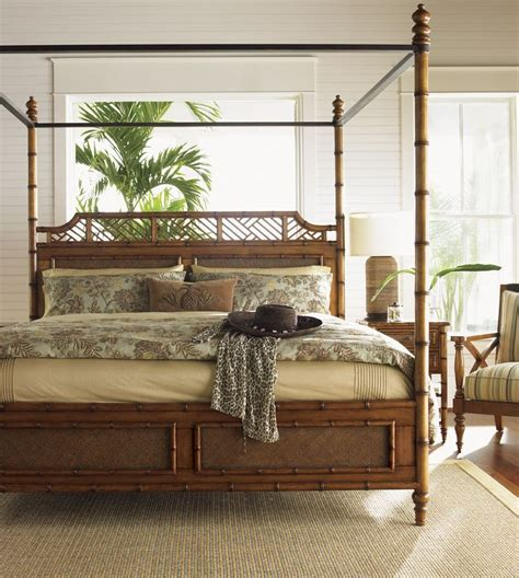 island estate plantation brown west indies king canopy bed tommy bahama coleman furniture