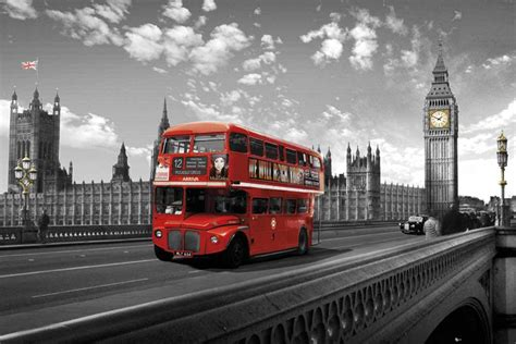 london westminster bridge bus poster