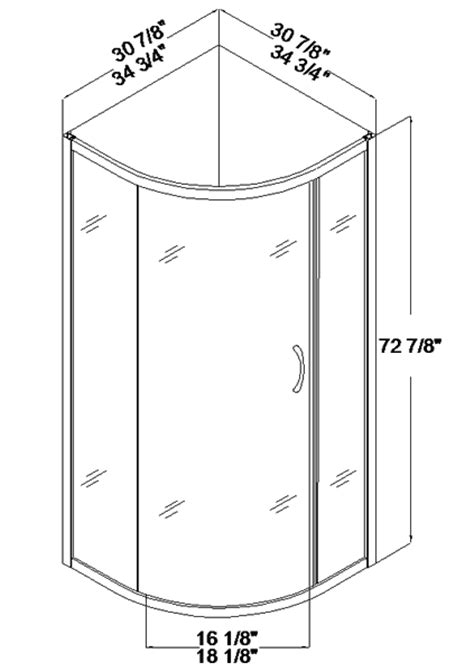 small shower size dreamline dl 6165 sparkle shower enclosure 32 x 32 sector base and backwall kit