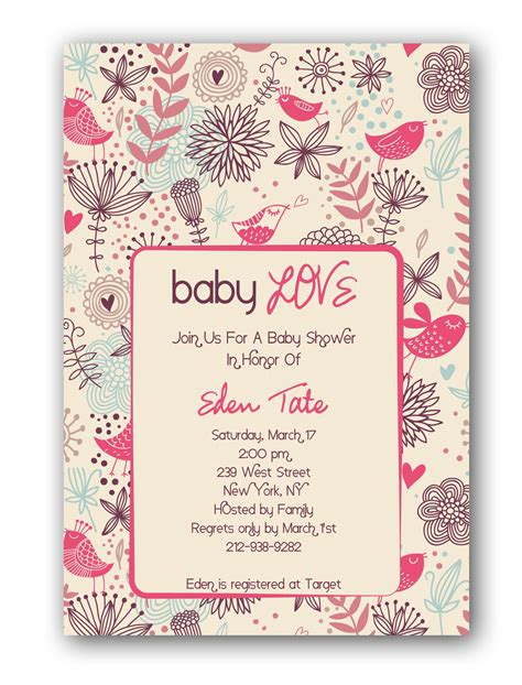 girl baby shower invitations template baby shower invitations for