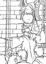 Potter Harry Coloring Chamber Secrets Pages Fun Zdroj Pinu Previus sketch template