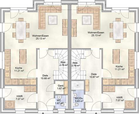 doppelhaus grundriss