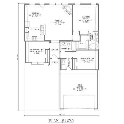 2 bedroom open floor plans 2 bathroom house plans house plans southern house plans