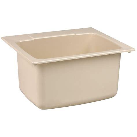 mustee sinks 10 c mustee 22 in x 25 in fiberglass self utility