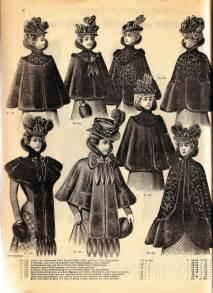 vintage ephemera fashion plate fur capes 1900