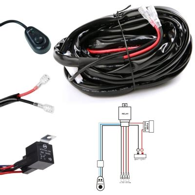 Led Light Bar Wiring Harness Kit Fuse Relay