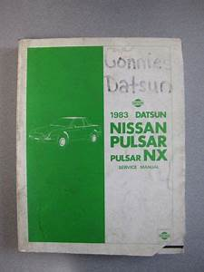 Find 1983 Datsun Nissan Pulsar  Pulsar Nx Service Manual Motorcycle In Urbandale  Iowa  United