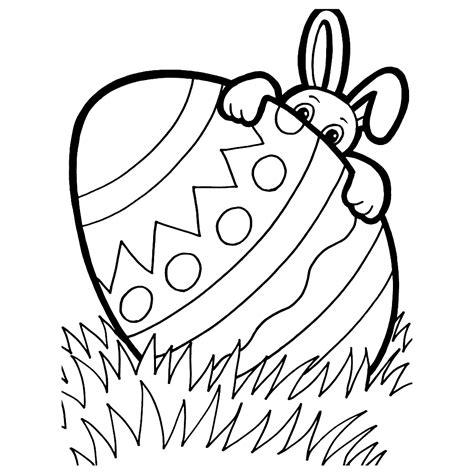 Kleurplaat Paashaas En Ei by De Paashaas Verstopt Zich Achter Een Ei Pasen