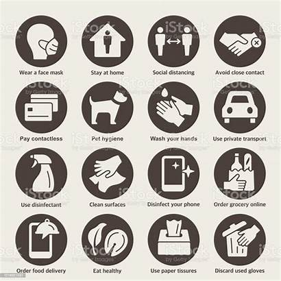 Protection Coronavirus Icons Covid Icon Prevention Advice