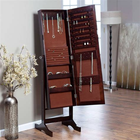 standing mirror jewelry armoire standing jewelry cabinet caymancode