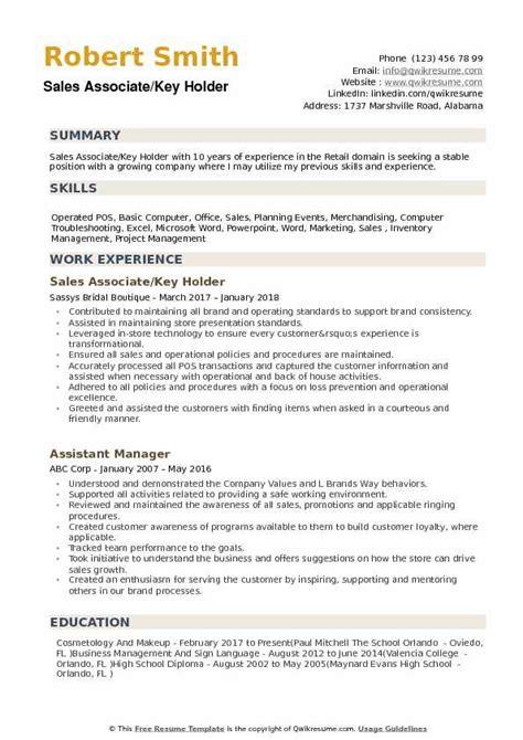 key holder resume sle talktomartyb