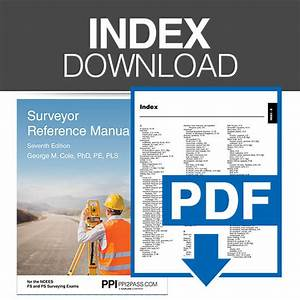 Surveyor Reference Manual  Seventh Edition Index