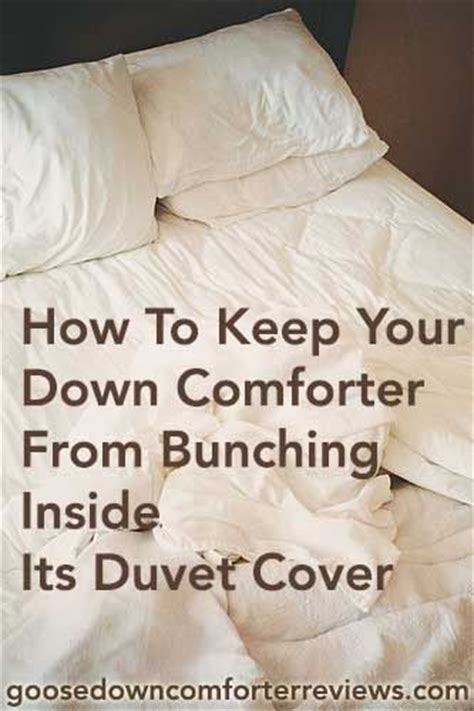 How To Keep Your Down Comforter From Bunching Inside Its