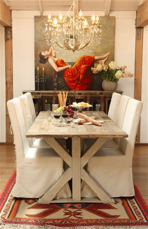 Modern Rustic Dining Table Dining Room Contemporary With