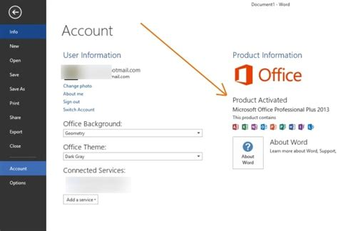 how to activate office 2013