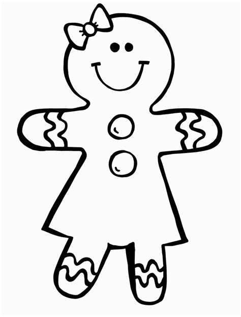 Gingerbread Girl Coloring Pages Summer Pinterest
