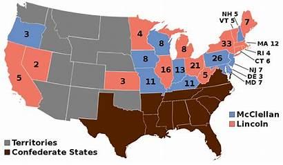 1864 Election States United Civil Presidential Americane