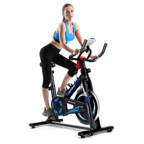 Goplus Indoor Cycling Bike Exercise Cycle Trainer Fitness ...