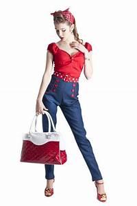tenue guinguette femme pantalon With vêtements rockabilly femme