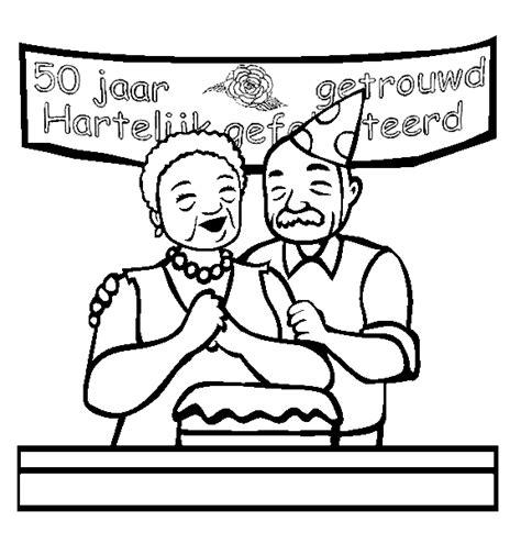 50 Jaar Huwelijk Kleurplaat by Opa En Oma Kleurplaten 50 Jaar Getrouwd