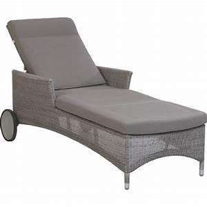 Coussin Chaise Longue : chaise longue avec coussin table de lit ~ Teatrodelosmanantiales.com Idées de Décoration