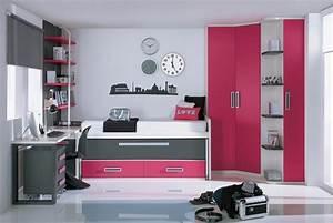 cama nido en rosa y blanco para chicas adolescentes DORMITORIOS