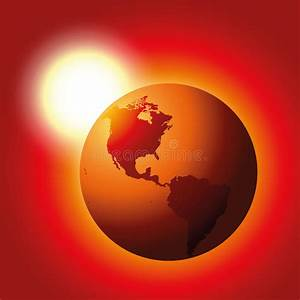 Global Warming Red Planet Earth Stock Vector - Image: 49707566