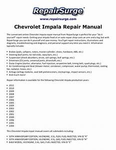 Chevrolet Impala Repair Manual 1994