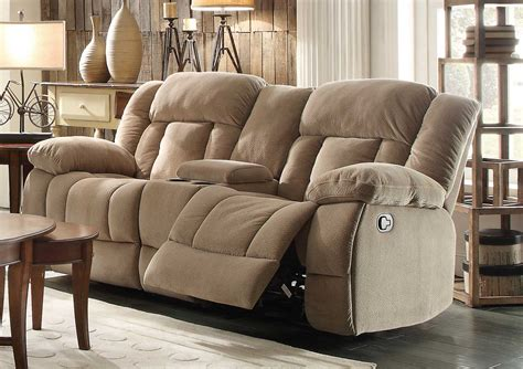Double Recliner Sofa With Console Double Recliner Sofa