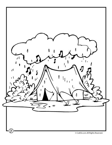 Poems About Halloween by Rainy Day Camping Coloring Page Woo Jr Kids Activities