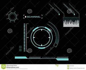 Futuristic Touch Screen User Interface HUD Stock ...