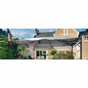 Toile Pour Jardin : toile pour tonnelle 4 pentes 350x350cm polyester gris ~ Teatrodelosmanantiales.com Idées de Décoration