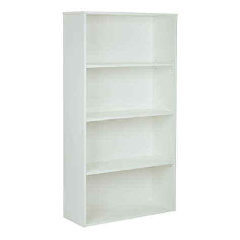 White Bookcase by Pro Line Ii Prado White Adjustable Open Bookcase Prd3260