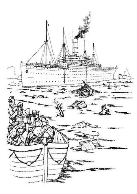 Kleurplaat De Redding carpathia het reddings schip kleurplaat jouwkleurplaten