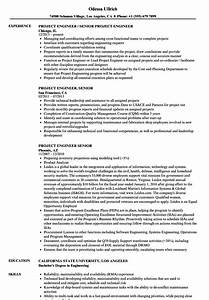 Microsoft Access Project Management Template Project Engineer Senior Resume Samples Velvet Jobs