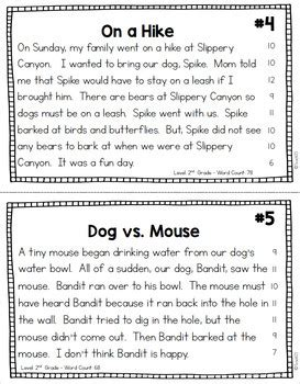fluency passages reading comprehension 2nd 3rd grade by