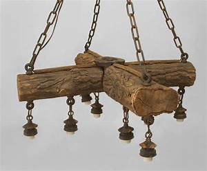 Early, 20th, C, American, Rustic, Log, Chandelier, For, Sale, At, 1stdibs
