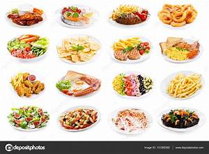 Set of various plates of food — Stock Photo © Nitrub #131265392