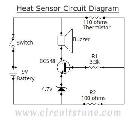 Circuit Diagram Heat Sensor Projetos
