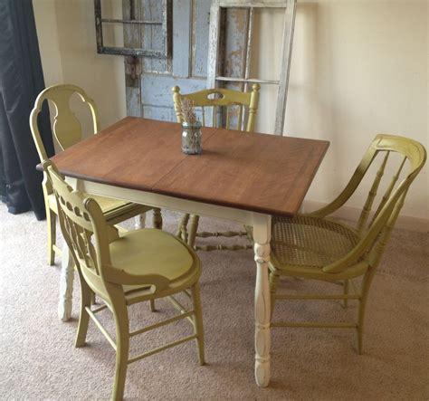 small kitchen furniture crafted vintage small kitchen table with four miss matched chairs by vintage hip decor