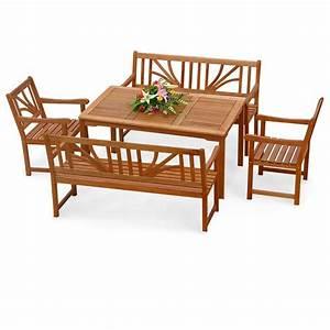 Gartenmöbel Set Ebay : gartenm bel set 5 tlg aus holz 2 st hle 2 b nke 1 tisch rechteckig teak l ebay ~ A.2002-acura-tl-radio.info Haus und Dekorationen
