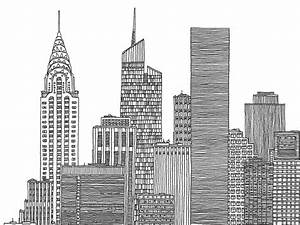 Images For > New York City Skyline Black And White ...