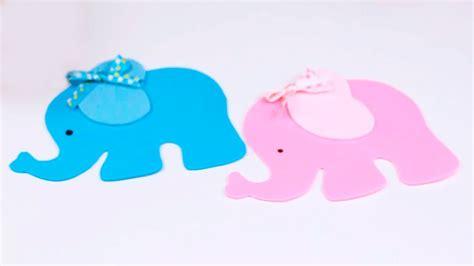 como hacer elefante de foami o goma para baby shower