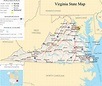 Virginia State Map - A large detailed map of Virginia ...