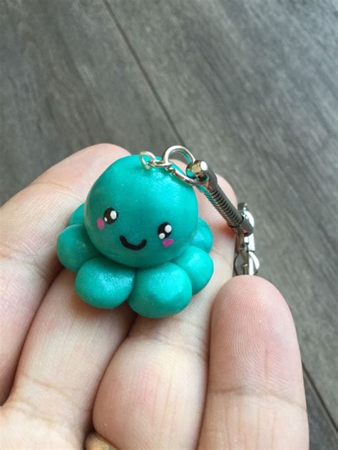 key kawaii polymer clay octopus fimo tuto porte cle