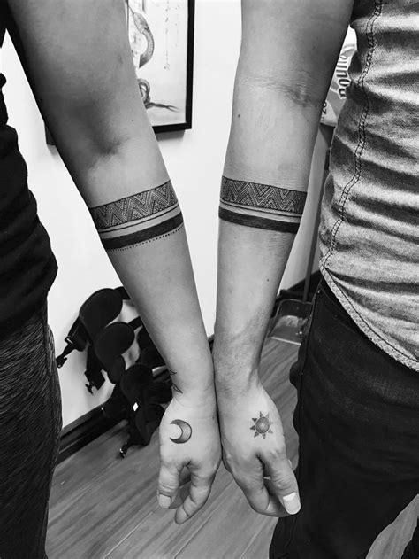 Couples armband tattoo | Band tattoo, Arm band tattoo