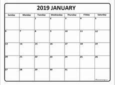 January 2019 Calendar With Holidays Canada Free