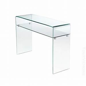 Console Verre Fly : console en verre ginger console en bois et verre modern ~ Teatrodelosmanantiales.com Idées de Décoration